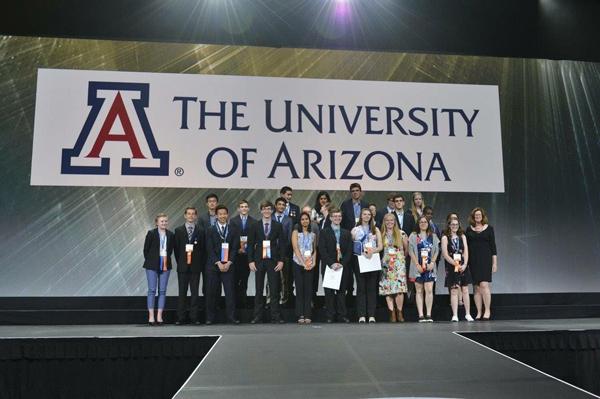 Adam Skora, Kristi Webster, & Taylor Benning each won a U of A Scholarship